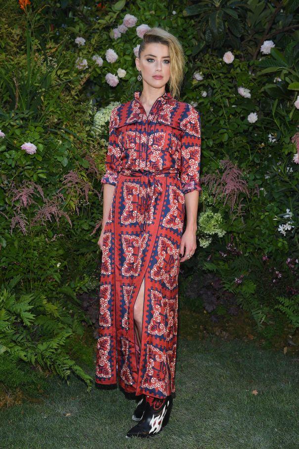 Amber Heard Turns Heads At Valentino