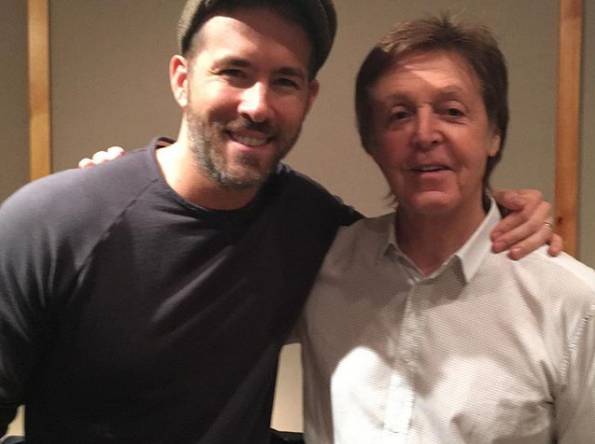 Ryan Reynolds Meets Sir Paul McCartney