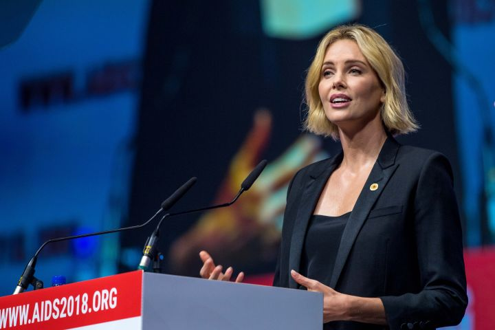 Charlize Theron also attended the second day of the 2018 AIDs Conference