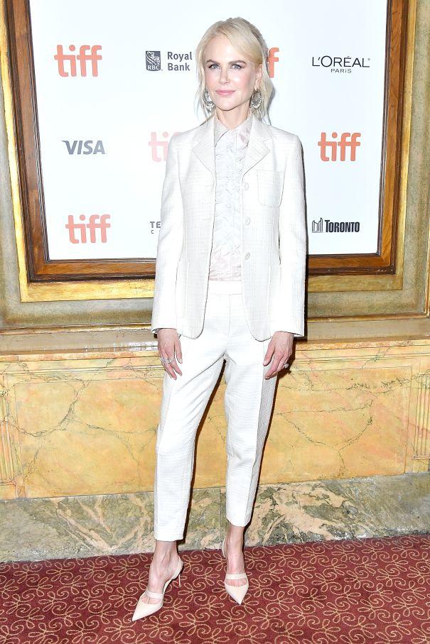 Nicole Kidman Suits Up