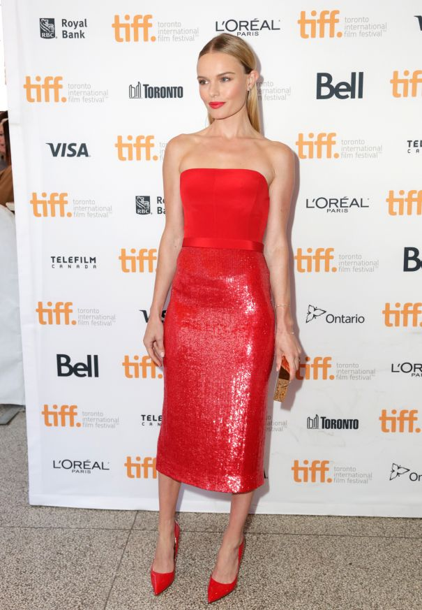 Kate Bosworth Radiates In Red Hot Hugo Boss