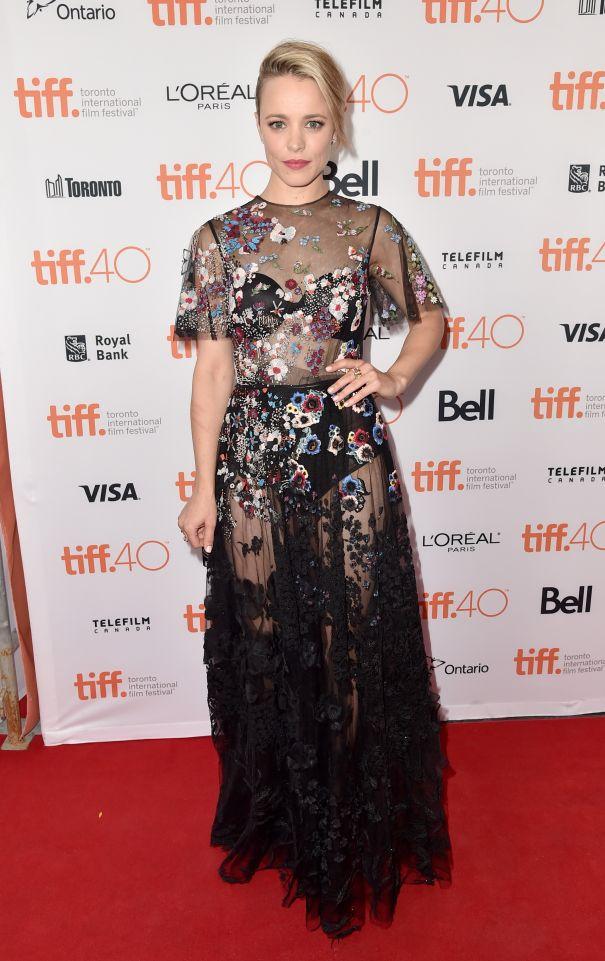 Rachel McAdams Goes Sheer In Valentino