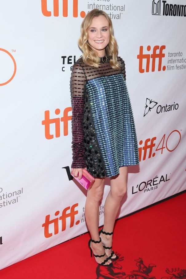 Diane Kruger Shines Bright In Coloured Beads