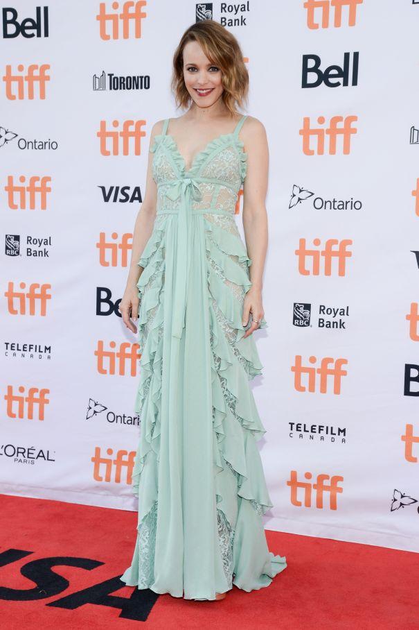 Rachel McAdams In A Mint Green Elie Saab Gown