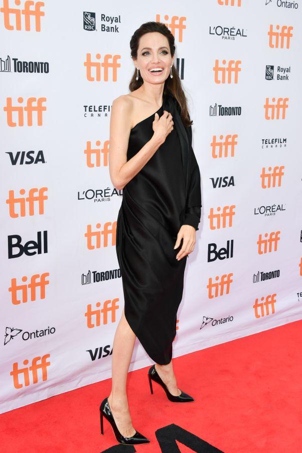 Angelina Jolie Is Elegant In A Little Black Dress
