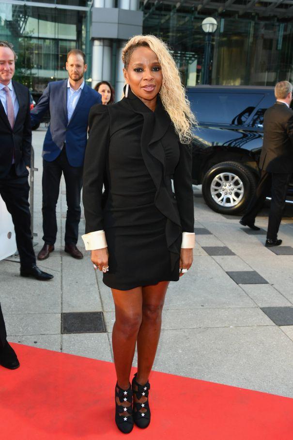 Mary J. Blige Stuns In A Ruffled Gucci Mini