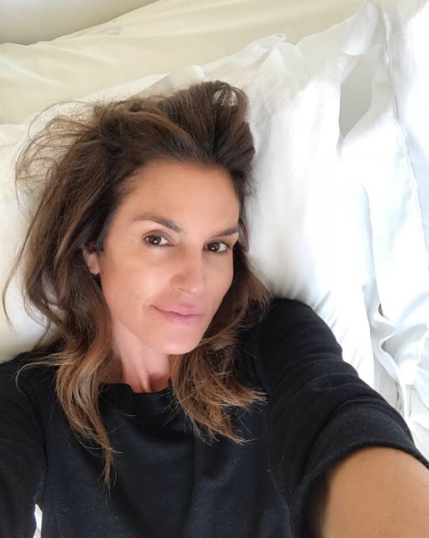 Cindy Crawford Chills After Halloween Bash