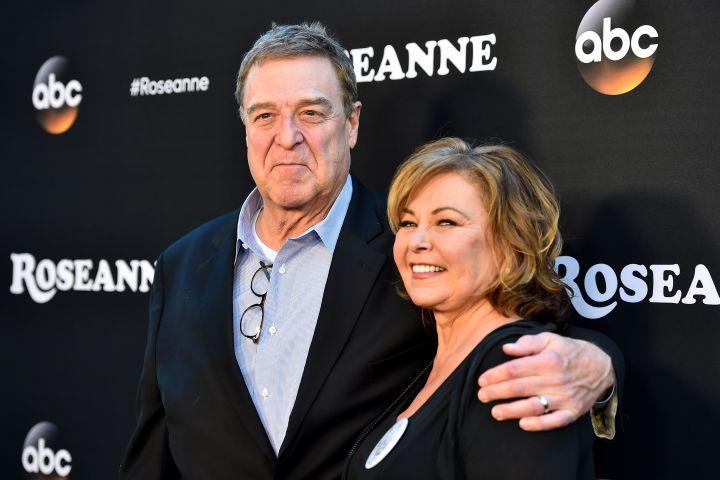 John Goodman with Rosanne Barr