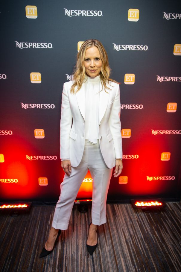 Maria Bello Poses In The Lounge