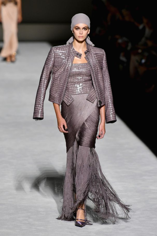 Kaia Gerber Hits The Tom Ford Runway