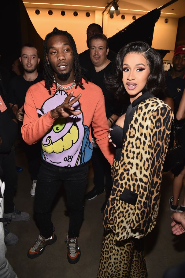 Cardi B and Offset Attend Fashion Show