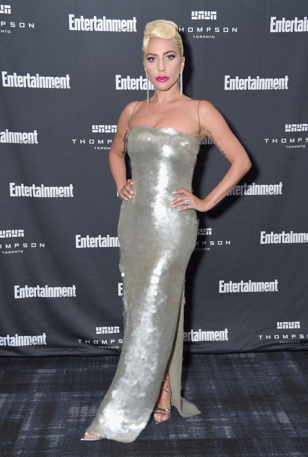 Lady Gaga Shines At Night