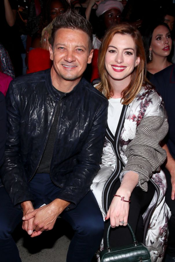 Jeremy Renner And Anne Hathaway At NYFW