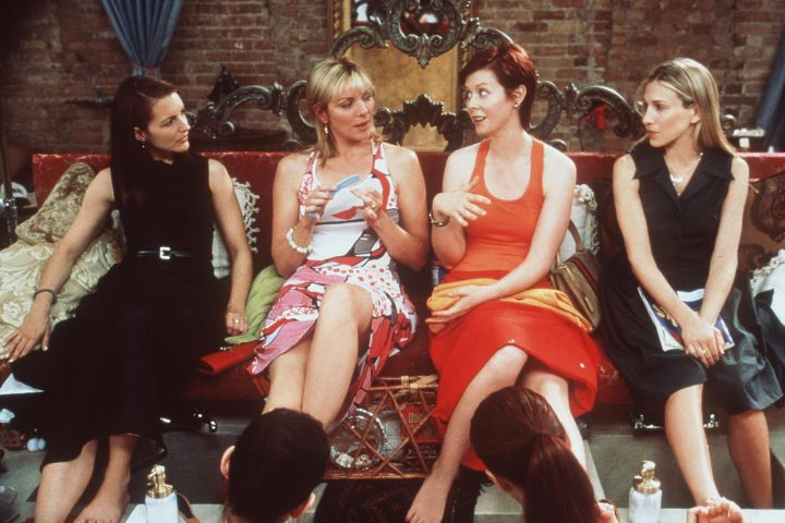 "Kristin Davis, Kim Cattrall, Cynthia Nixon and Sarah Jessica Parker in ""Sex and the City"""