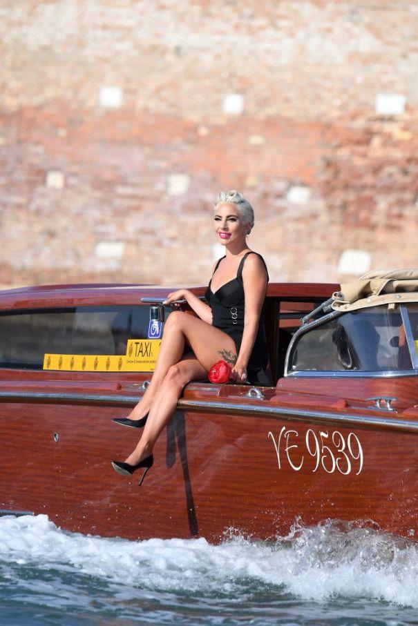 Lady Gaga Makes A Splash In Venice