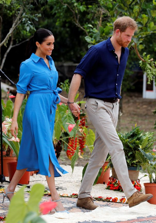 Meghan Markle And Prince Harry Attend Unveiling