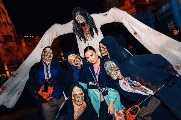 Demi Lovato Goes Demon-Hunting