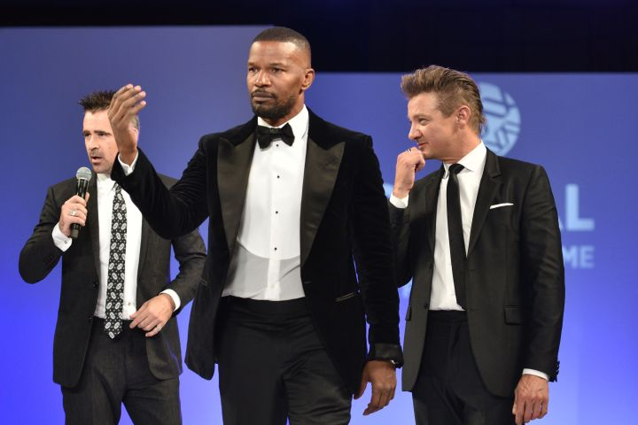 Actors Colin Farrell, Jamie Foxx and Jeremy Renner at the event (Photo by Tom Cooper/Getty Images for Global Down Syndrome Foundation)