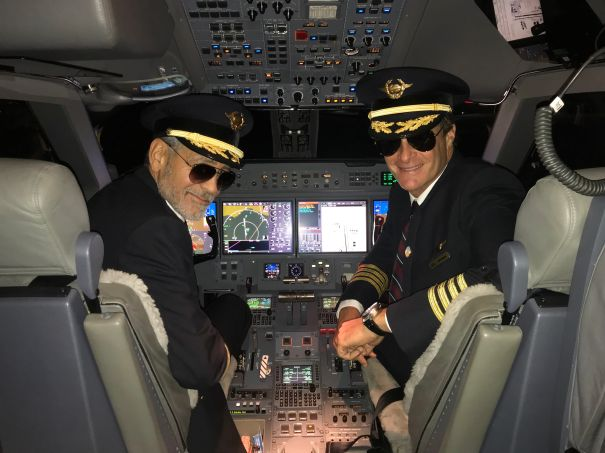 George Clooney And Rande Gerber Take Off