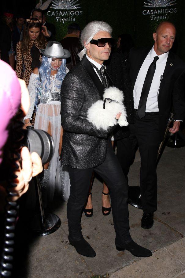 Ryan Seacrest Gets Fashionable As Karl Lagerfeld
