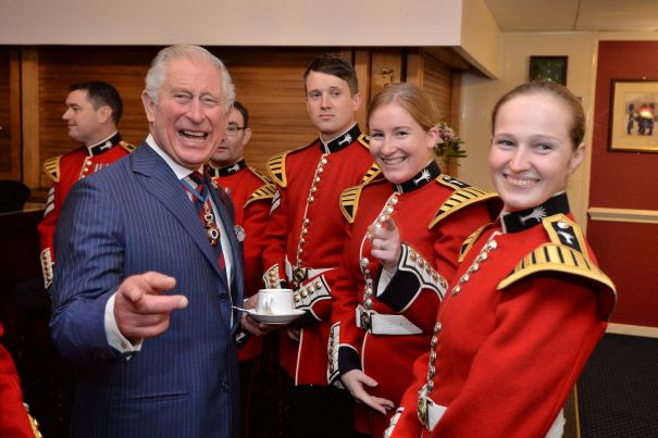 Making A Point With The Welsh Guards Band