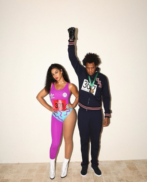 Beyonce And Jay-Z Dress As Sports Stars