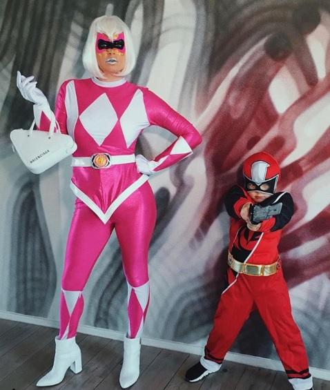 Fergie Transforms Into Pink Power Ranger