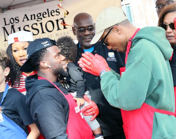 The Los Angeles Mission Hosts Thanksgiving Event For The Homeless