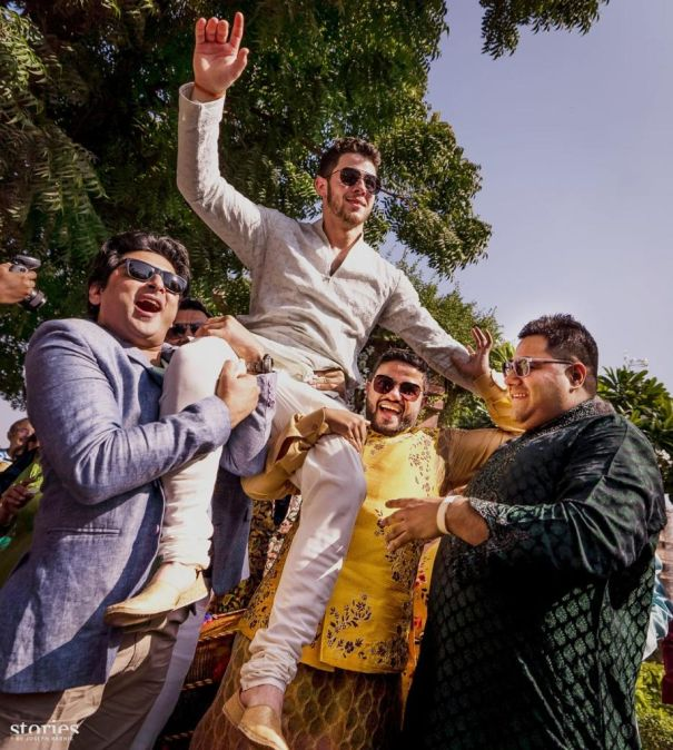 Nick Lifted During Mehendi Ceremony