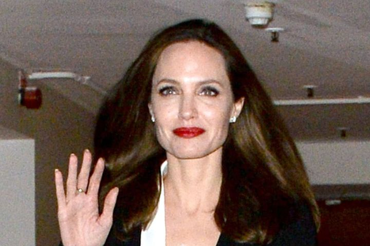 Mandatory Credit: Photo by Palace Lee/REX/Shutterstock (9991151f) Angelina Jolie leaving the BFI Angelina Jolie out and about, London, UK - 23 Nov 2018