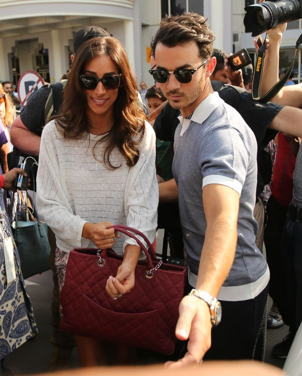 Kevin And Danielle Jonas Arrive