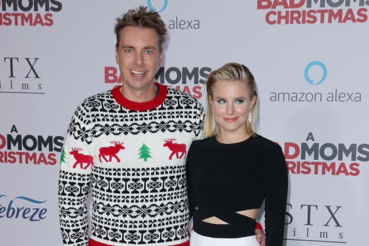 Mandatory Credit: Photo by Matt Baron/REX/Shutterstock (9180573ft) Dax Shepard and Kristen Bell 'A Bad Mom's Christmas' film premiere, Arrivals, Los Angeles, USA - 30 Oct 2017