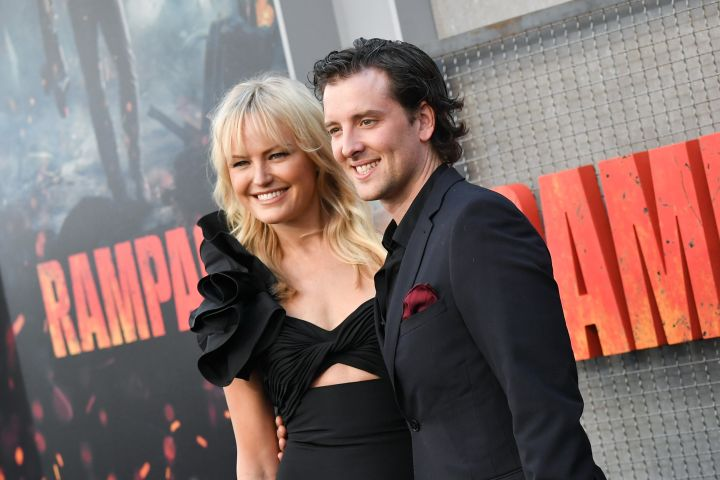 Mandatory Credit: Photo by Rob Latour/REX/Shutterstock (9518673aa) Malin Akerman and Jack Donnelly 'Rampage' film premiere, Los Angeles, USA - 04 Apr 2018