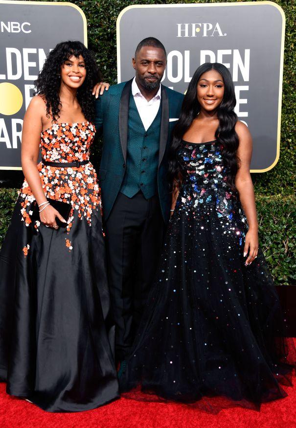 Idris Elba, Sabrina Dhowr & Isan Elba