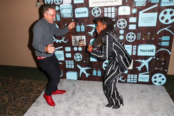David Arquette and Shanola Hampton