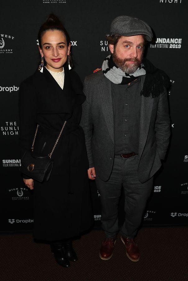 Jenny Slate and Zach Galifianakis