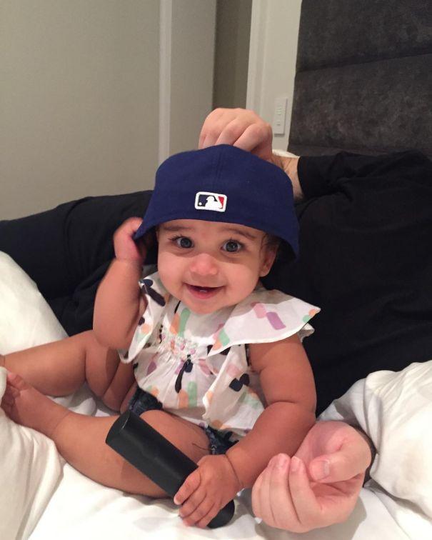 Dream Wears Her Dad's Hat