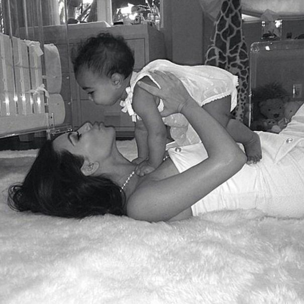 Kim And Baby North