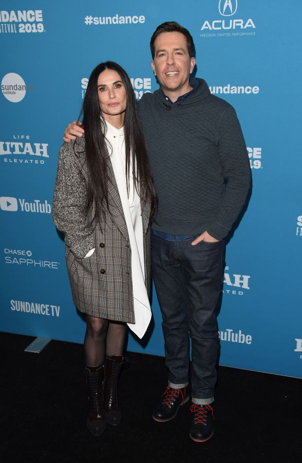 Demi Moore and Ed Helms