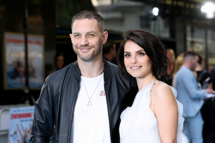 Mandatory Credit: Photo by James Shaw/REX/Shutterstock (9735396k) Tom Hardy and Charlotte Riley 'Swimming with Men' film premiere, Arrivals, London, UK - 04 Jul 2018