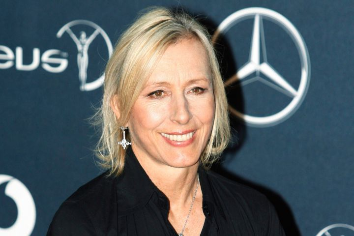 FILE - In this Feb. 6, 2012 file photo, former tennis player Martina Navratilova, arrives for the Laureus World Sports Awards in London. Navratilova is among several celebrities headed to New Orleans this week to celebrate and promote life after 50. More than a dozen celebrities are hosting talks and activities for aging Americans at the national conference of the AARP, which runs Thursday through Saturday at the Ernest N. Morial Convention Center and is expected to attract some 20,000 attendees. (AP Photo/Lefteris Pitarakis, file)