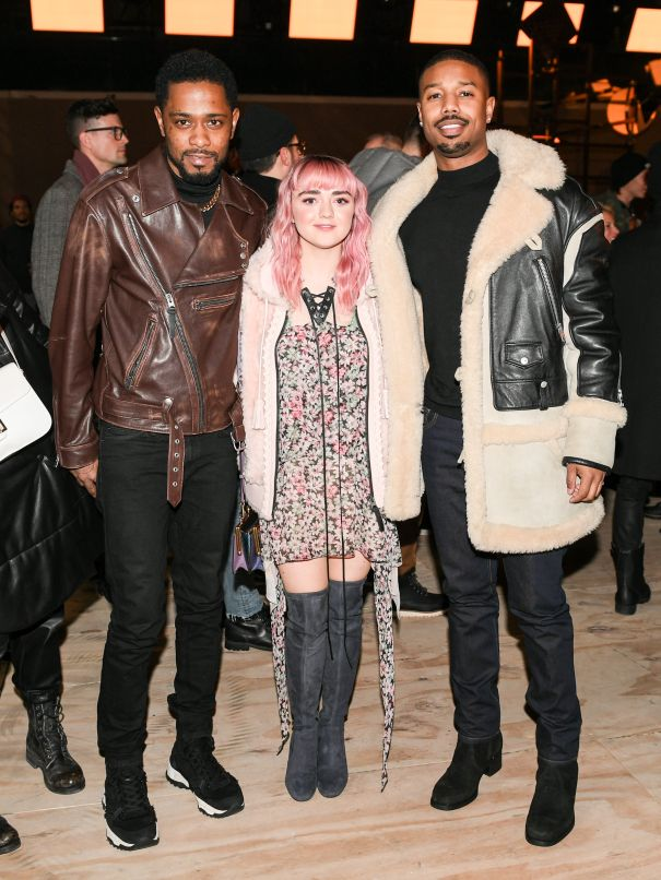 Lakeith Stanfield, Maisie Williams, Michael B. Jordan Stop By Coach AT NYFW