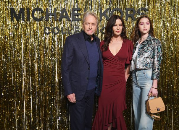 Michael Douglas, Catherine Zeta-Jones And Their Daughter Carys