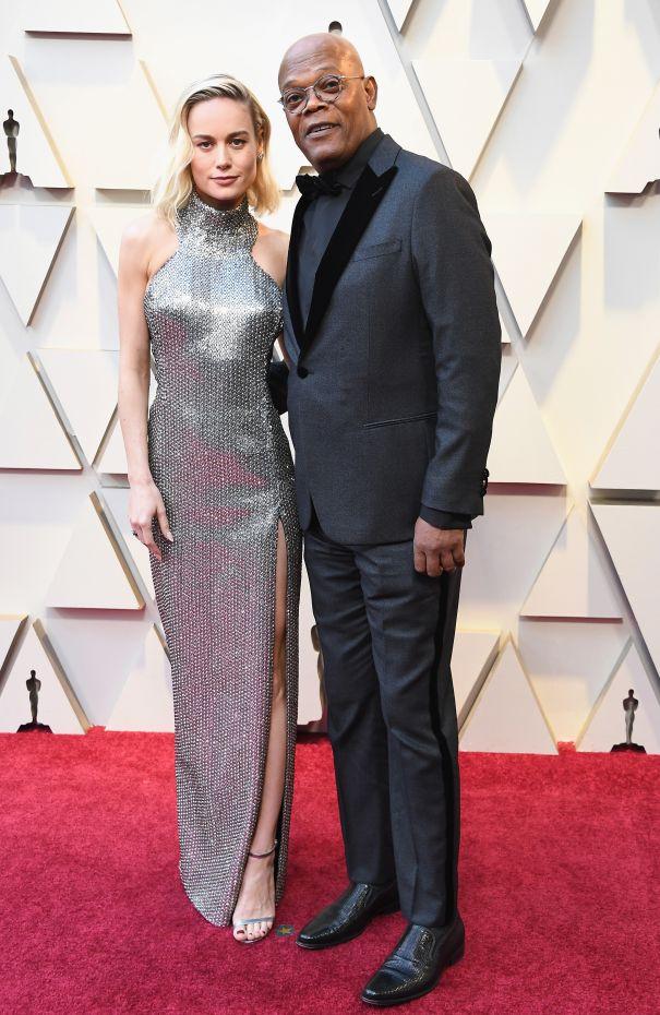 Brie Larson + Samuel L. Jackson
