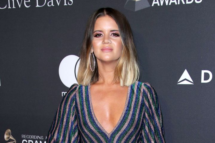 Mandatory Credit: Photo by Matt Baron/REX/Shutterstock (10100587fp) Maren Morris Clive Davis' 2019 Pre-Grammy Gala, Arrivals, The Beverly Hilton, Los Angeles, USA - 09 Feb 2019 Wearing Giamba