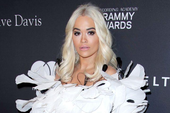 Mandatory Credit: Photo by Matt Baron/REX/Shutterstock (10100587oq) Rita Ora Clive Davis' 2019 Pre-Grammy Gala, Arrivals, The Beverly Hilton, Los Angeles, USA - 09 Feb 2019 Wearing Yanina Couture