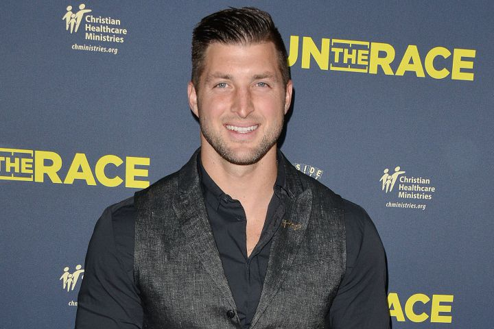 Mandatory Credit: Photo by Broadimage/REX/Shutterstock (10103536d) Tim Tebow 'Run the Race' film premiere, Los Angeles, USA - 11 Feb 2019