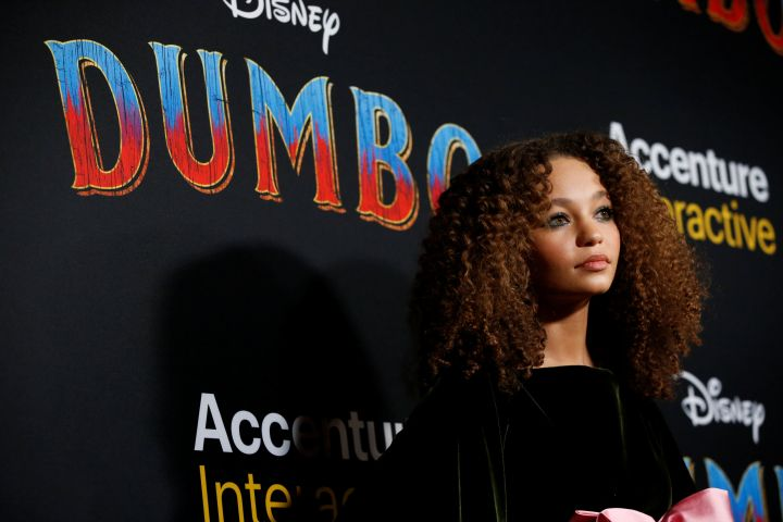 """Cast member Nico Parker poses at the premiere for the movie """"Dumbo"""" in Los Angeles, California, U.S., March 11, 2019. REUTERS/Mario Anzuoni"""
