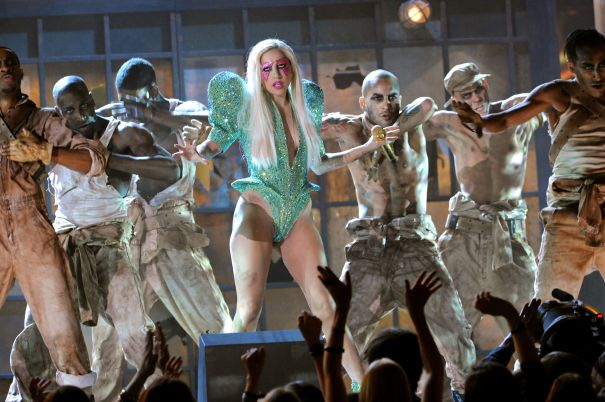 On Stage At The Grammy, 2010