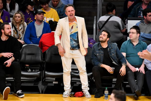 David Arquette Cheers On The Lakers